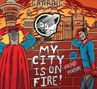 Graphic My City is on Fire 400ml Can TAKEAWAY - The Cult Beer Store from Hashigo Zake
