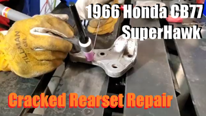 Tutorial - Repairing Cracked Honda CB77 Rearset Mounts