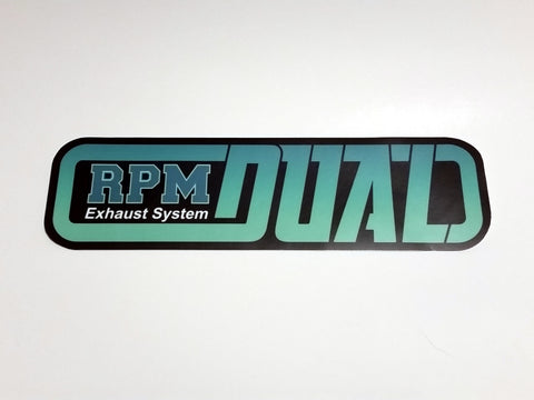 Racing Project Murashima RPM Dual Exhaust System Decal   REPRODUCTION