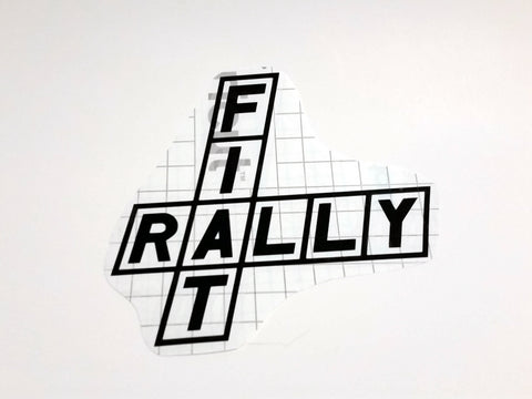 Fiat Rally Vinyl Decal Abarth