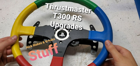 Thrustmaster T300 RS Upgrade Kit - Wheel Adapter, Extended Paddles, Paddle Magnets