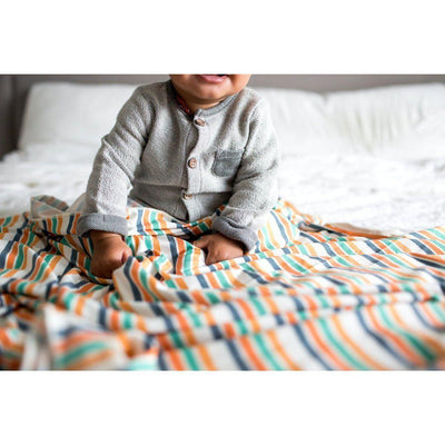 Retro Knit Swaddle Blanket - Fox and Roo