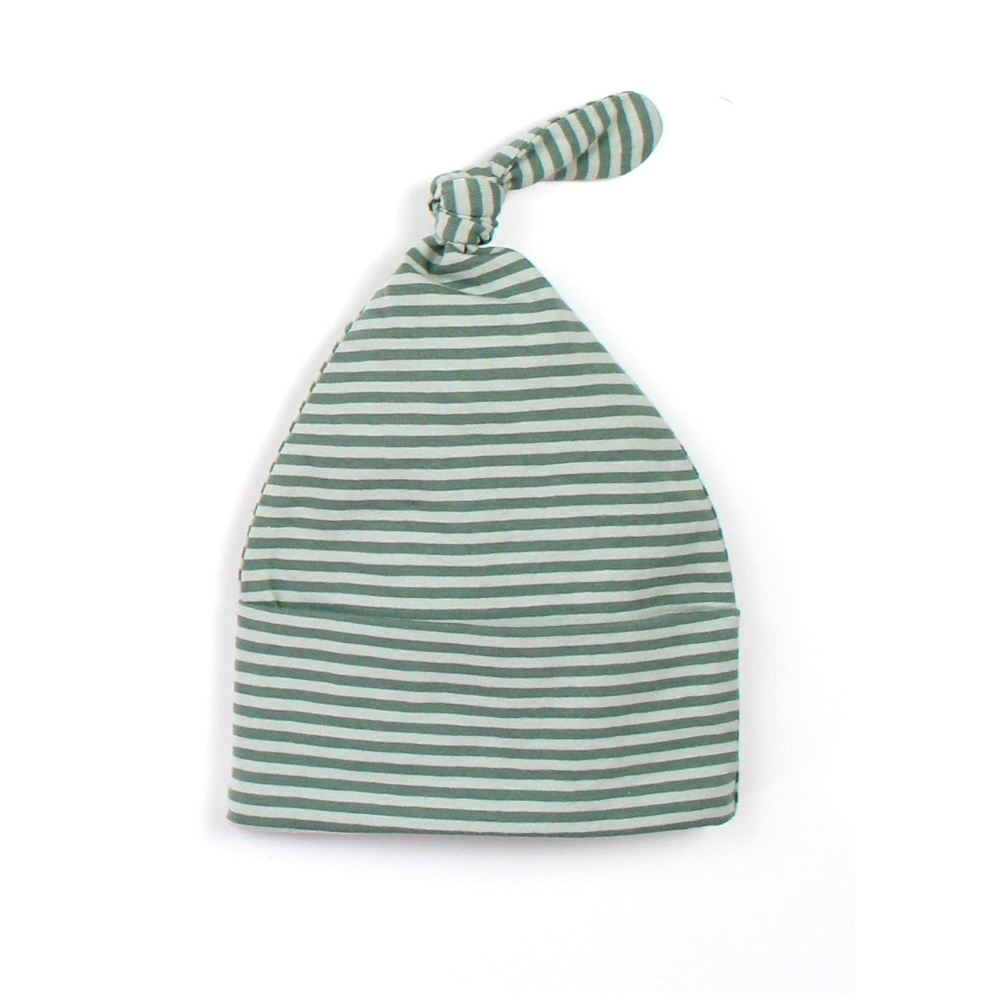 Seafoam Stripe Knot Beanie - Fox and Roo