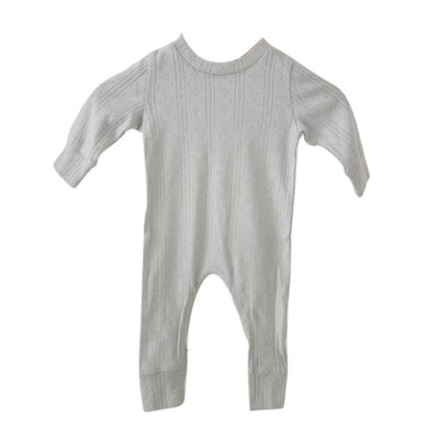 Duck Egg Blue Pointelle Onesie by Two Darlings - Fox and Roo