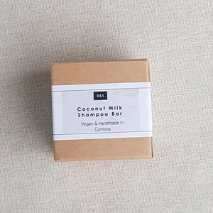 B & S Shampoo 'COCONUT MILK SHAMPOO BAR' - Zero Waste Shop, Shampoo Bar - Eco + Plant-Based Lifestyle, G.0 - Generation Zero Uk, G.0 - G.0