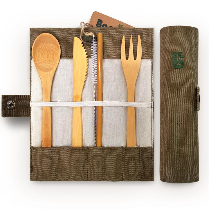 Reusable Cutlery Set - Zero Waste Shop, Cutlery Set - Eco + Plant-Based Lifestyle, generationzero.uk - Generation Zero Uk, G.0 - G.0