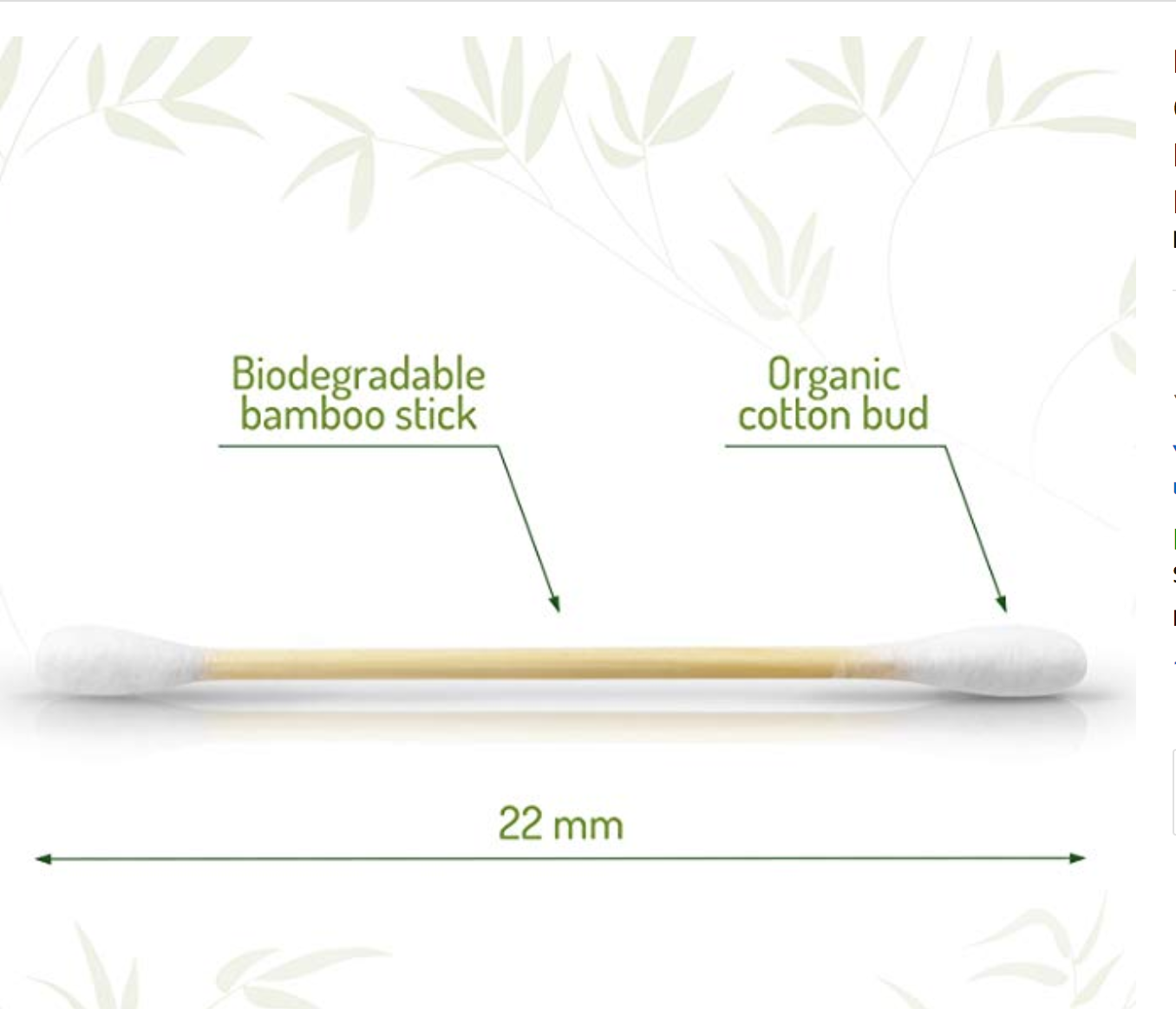 Organic Bamboo Cotton Buds
