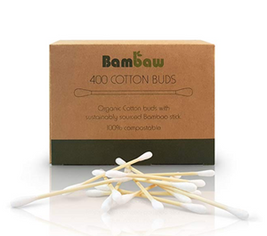 Organic Bamboo Cotton Buds - Zero Waste Shop, Cotton Buds - Eco + Plant-Based Lifestyle, Generation Zer0 - Generation Zero Uk, G.0 - G.0