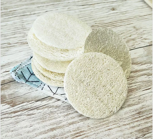 Natural Loofah Discs (Set 5) for Face - Zero Waste Shop, Loofah Discs - Eco + Plant-Based Lifestyle, Generation Zer0 - Generation Zero Uk, G.0 - G.0