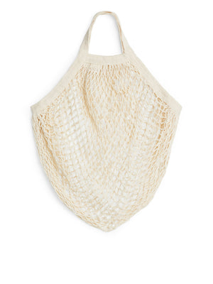 Organic Cotton String Bag (Short Handles) - Zero Waste Shop, Bag - Eco + Plant-Based Lifestyle, Generation Zer0 - Generation Zero Uk, G.0 - G.0