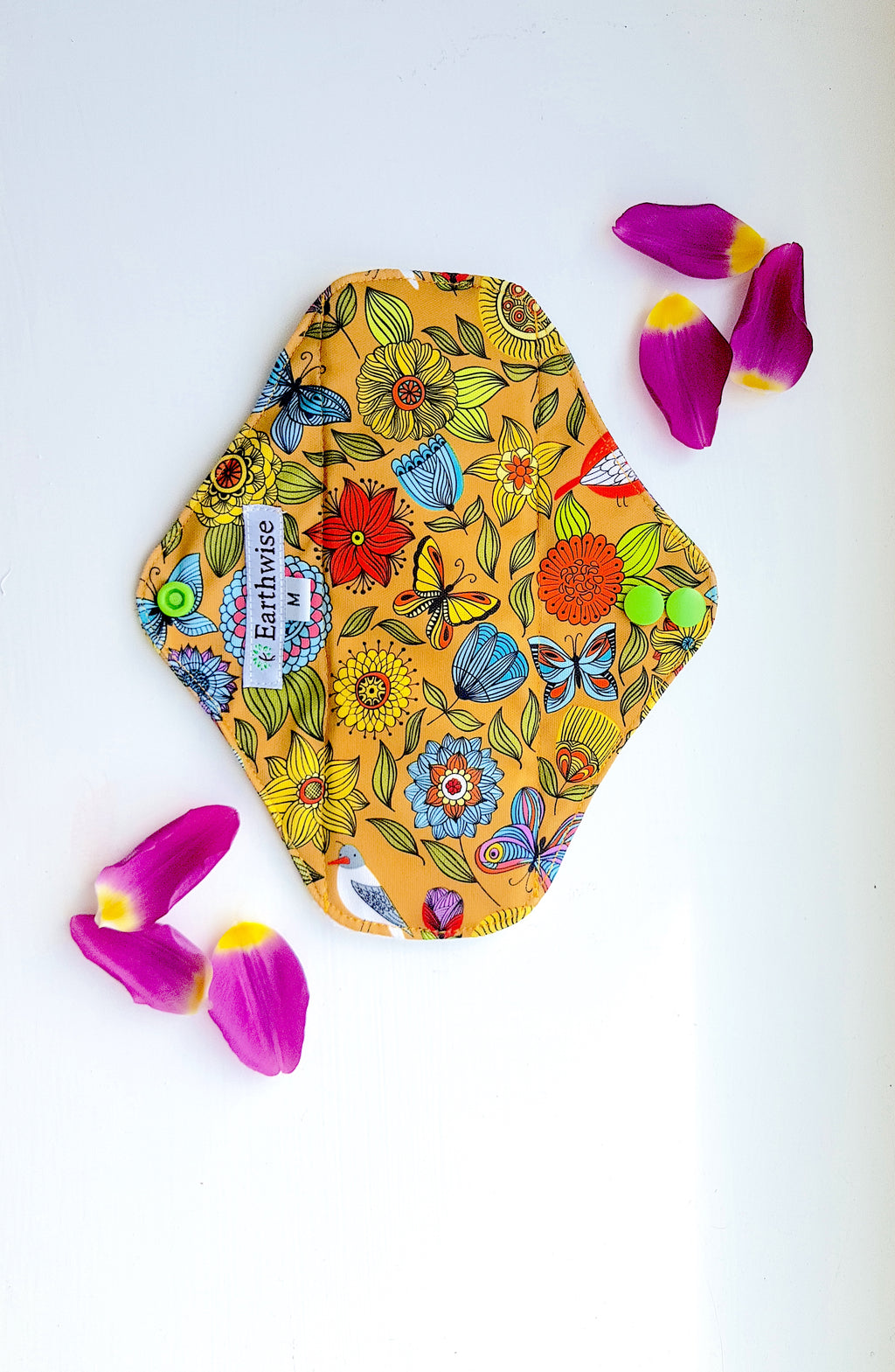 Reusable 'Earthwise' Sanitary Pads: Exotic (S/M/L) - Zero Waste Shop, Reusable Sanitary Pad - Eco + Plant-Based Lifestyle, G.0 - Generation Zero Uk, G.0 - G.0