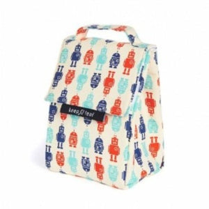 Organic Cotton Insulated Lunch Bag - Robot - Zero Waste Shop, Lunch Bag - Eco + Plant-Based Lifestyle, generationzero.uk - Generation Zero Uk, G.0 - G.0