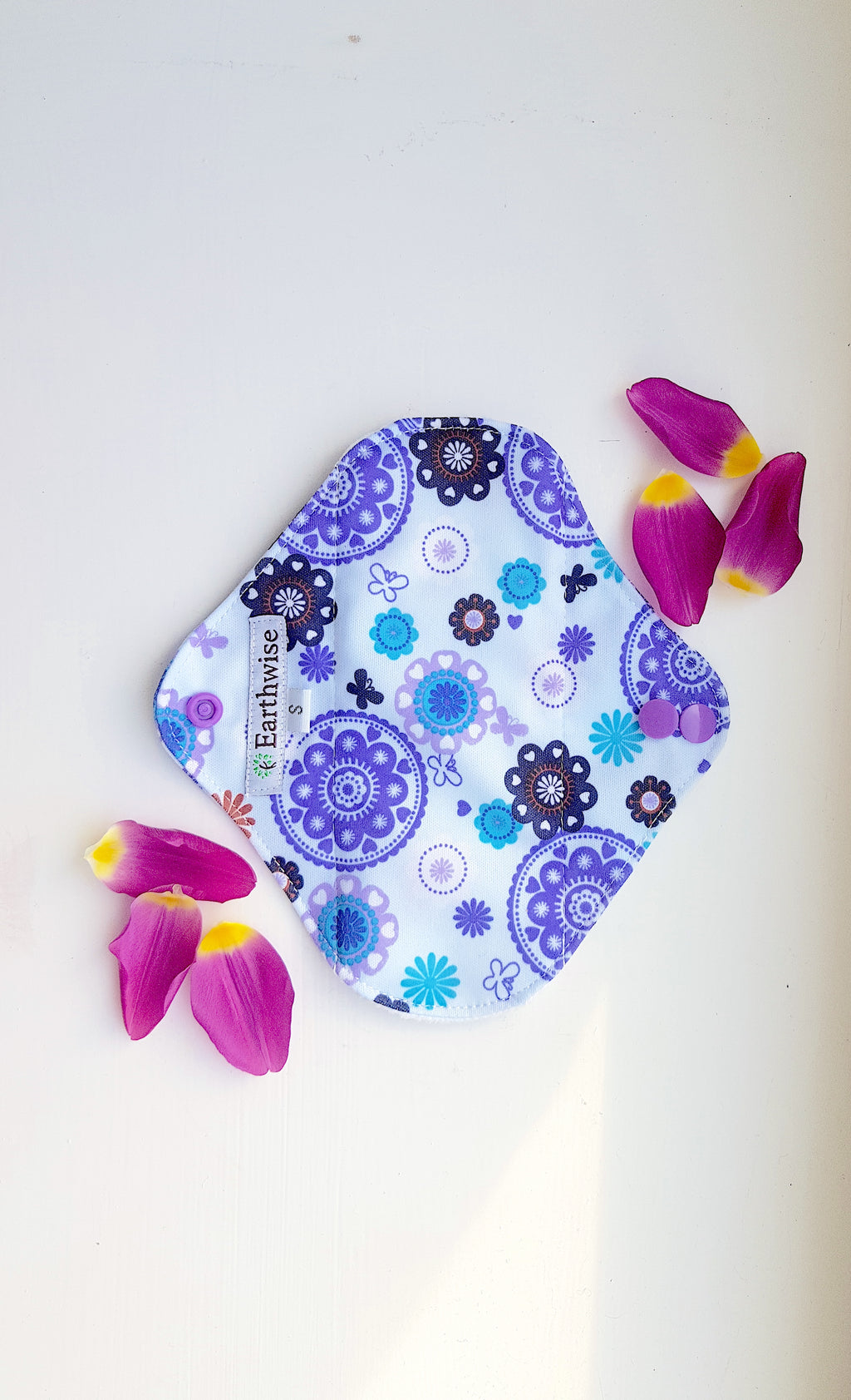 Reusable 'Earthwise' Sanitary Pads: Kaleidoscope (S/M/L) - Zero Waste Shop, Reusable Sanitary Pad - Eco + Plant-Based Lifestyle, G.0 - Generation Zero Uk, G.0 - G.0