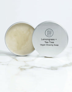 Moisturising Natural Lemongrass + Tea Tree Shaving Soap - Zero Waste Shop, Shaving Soap - Eco + Plant-Based Lifestyle, Generation Zer0 - Generation Zero Uk, G.0 - G.0