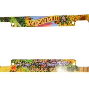 Margaritaville 5 O'clock Somewhere License Plate Frame