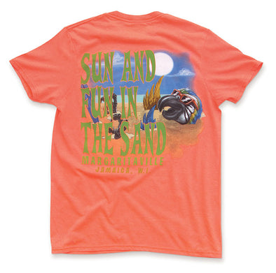 Sun in the Sand Orange Tee