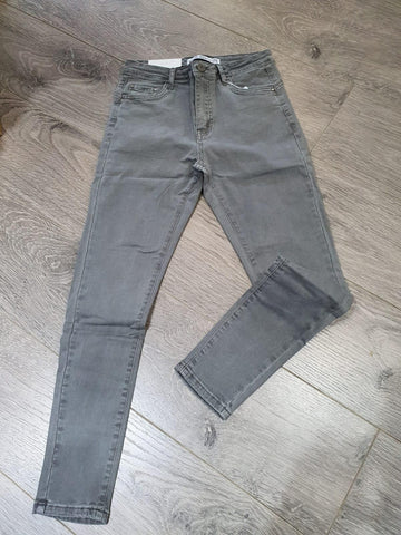 Grey Denim Push Up Jeans
