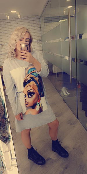 Over Size Picture Tee/Dress