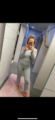 Crop Cable Knit Co-Ord