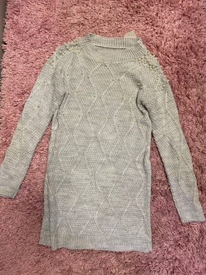 Pearl Knit Jumper Dress