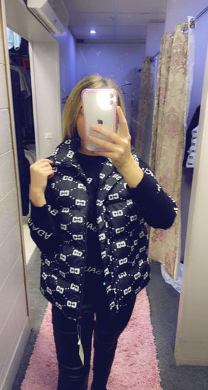 Printed Body Warmer