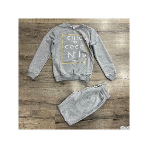 Chic Like Coco Slogan Tracksuit