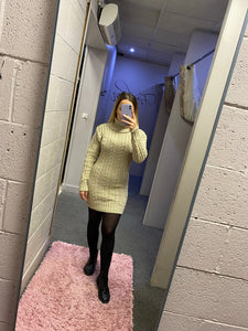 Cable Polo Knit Dress