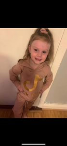 TT Plain Tracksuit Gold Slogan