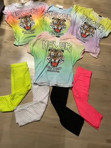 Never Be Seen Tiger Tie Dye Tee (4 Colours)