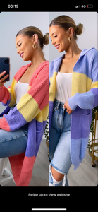 Luci Stripe Cardigan(2Colours)