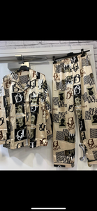 Cream DD Print Pajamas