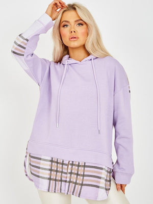 Check Layer Hoody (Lilac)