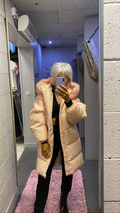 Puffer faux fur hood jacket (3 COLOURS)