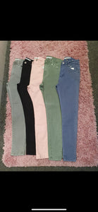 Khaki Denim Push Up Jeans