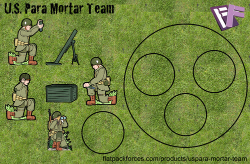 U.S. Paras Mortar Team - Normandy