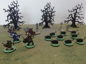 Nine Giant Rats with Bases