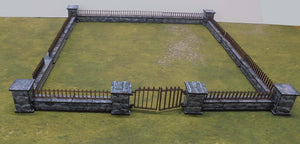 Walls with Railings