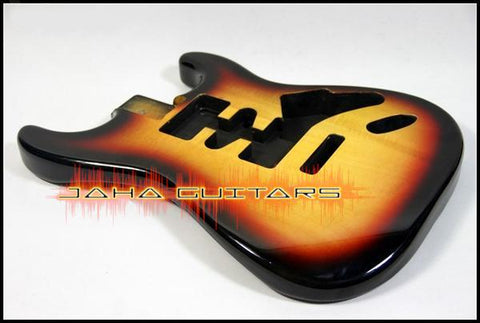 Corps de type stratocaster en basswood - Finition Gun-color