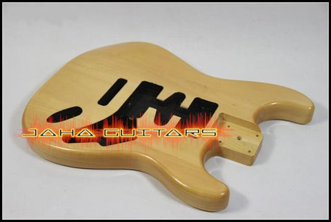 Corps de type stratocaster en basswood - Finition natural