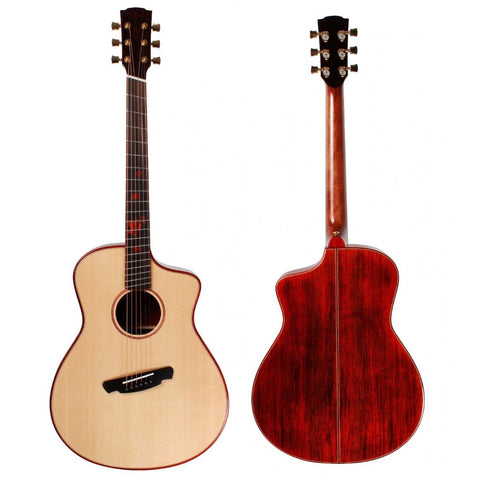Guitare acoustique multi-diapason en padouk