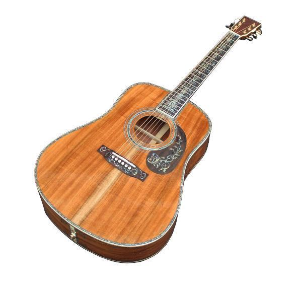 Guitare dreadnought en koa
