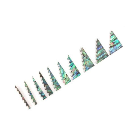 10 incrustations de touche en abalone motif dents de scie
