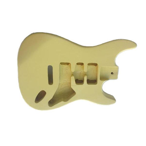 Corps de type stratocaster en acajou - Finition: Light Yellow