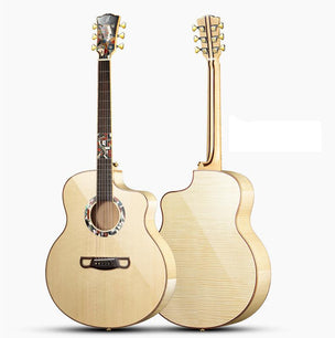 Guitare Grand Jumbo en érable ondé