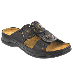 Athena Sandal in Analine Leather - Comfort Plus