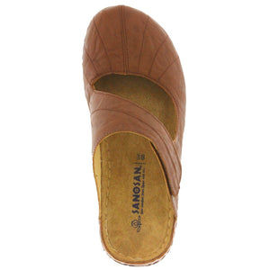 Meredith Open Back Clog in Crinkled Leather - Comfort Plus