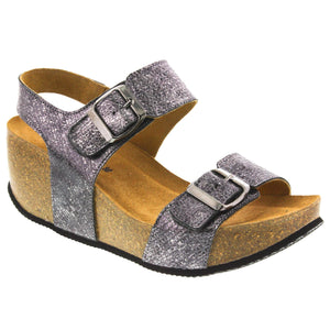 Vera Foil Leather Fashion Sandal - Classic Comfort