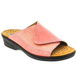 Rita Leather adjustable slide sandal & removable Sietelunas insole