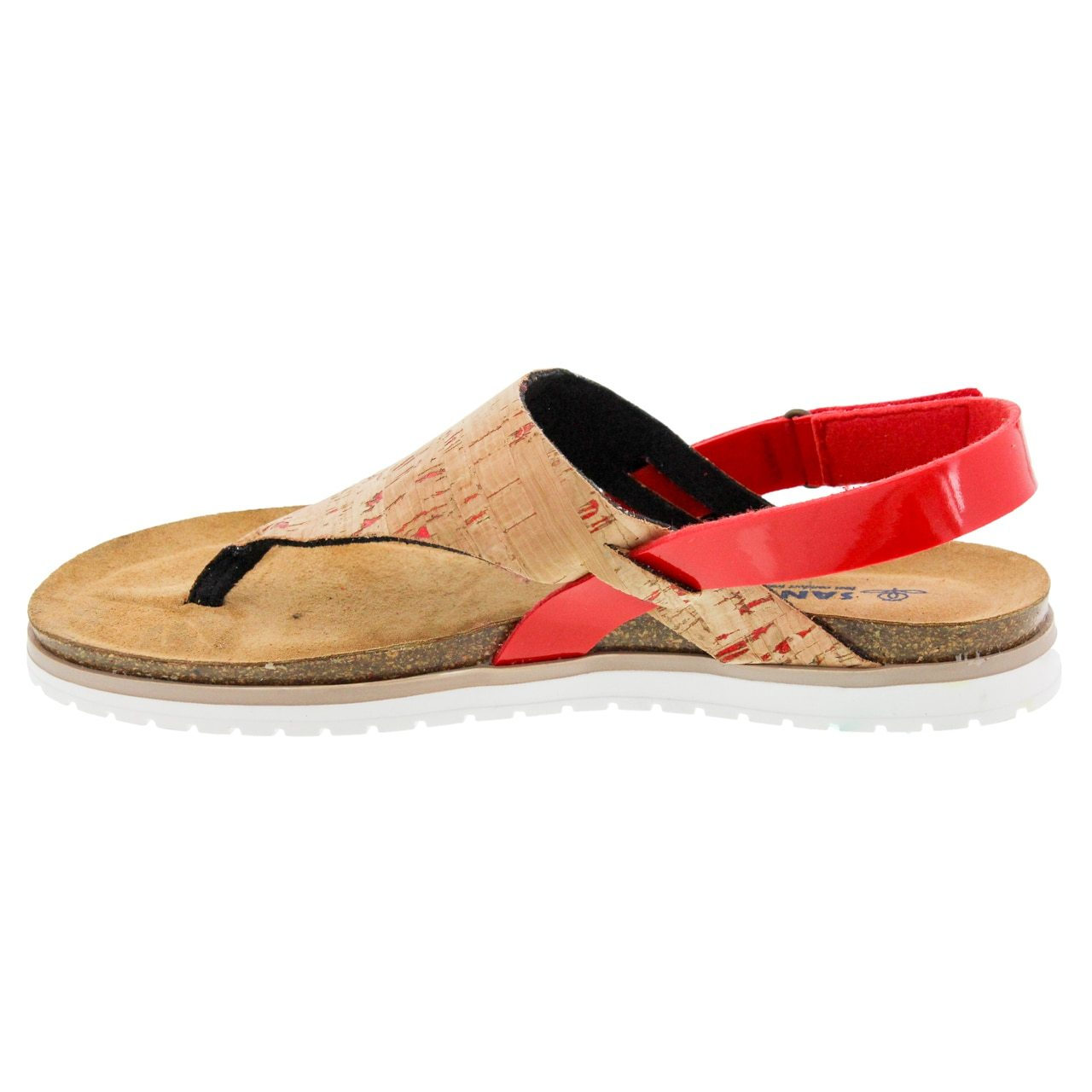 a9f30d9794 Sanosan Aleah Cork Leather Thong Sandal - Comfort Plus – Sanosan ...