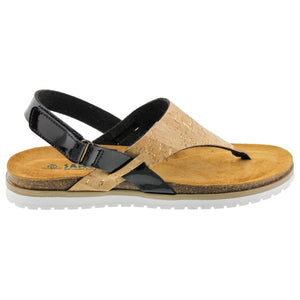 Aleah Cork Leather Thong Sandal - Comfort Plus